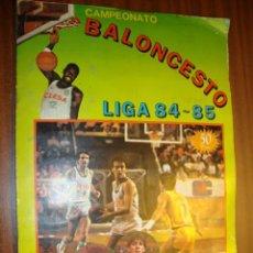 Coleccionismo deportivo: ALBUM DE CAMPEONATO DE BALONCESTO LIGA 84-85 COMPLETO. Lote 102444807