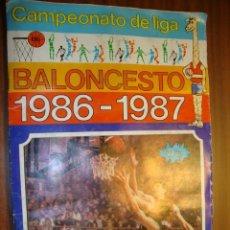 Coleccionismo deportivo: ALBUM DE CAMPEONATO DE LIGA DE BALONCESTO LIGA 86-87 COMPLETO. Lote 102444927