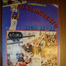 Coleccionismo deportivo: ALBUM DE CAMPEONATO DE BALONCESTO LIGA 85-86 FALTAN LOS Nº 8 Y 135. Lote 102445079