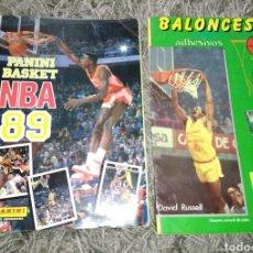 Coleccionismo deportivo: ALBUM PANINI BASKET NBA 89 Y BALONCESTO 88. Lote 105593807