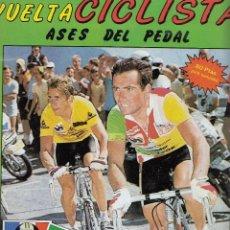 Coleccionismo deportivo: ALBUM COMPLETO DE 128 CROMOS 'VUELTA CICLISTA / ASES DEL PEDAL' DE ED. J. MERCHANTE DE 1987.. Lote 105875479