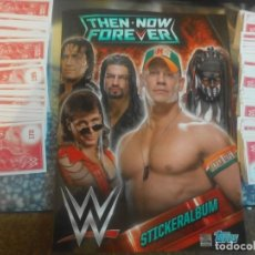 Coleccionismo deportivo: THEN NOW FOREVER WWE STICKERS DE TOPPS COMPLETO. Lote 107896315