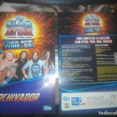 Coleccionismo deportivo: TAPAS ALBUM THEN NOW FOREVER SLAM ATTAX DE TOPPS WWE (LEER DESCRIPCIÓN). Lote 108026531