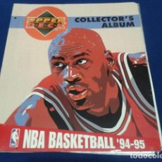 Coleccionismo deportivo: ALBUM NBA BASKETBALL ´94 - 95 COLLECTOR´S ALBUM UPPER DECK 1994 - 1995. Lote 110496087