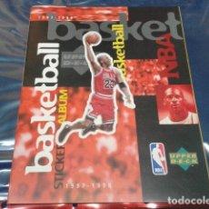 Coleccionismo deportivo: ALBUM NBA BASKETBALL ALBUM STICKER 1997 -1998 UPPER D.E.C.K VACIO UPPER DECK. Lote 209089706