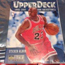 Coleccionismo deportivo: NBA BASKETBALL 1996 - 1997 UPPERDECK STICKER ALBUM FALTAN 57 DE 186 . Lote 110496571