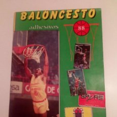 Coleccionismo deportivo: ALBUM BALONCESTO 88 EDITORIAL MERCHANTE (1987/1988) COMPLETO.. Lote 111534751
