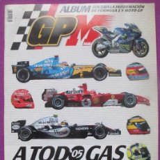 Coleccionismo deportivo: ALBUM CROMOS, FORMULA 1 Y MOTO GP, A TODO GAS, FALTA Nº10-38-106-124. Lote 111798455