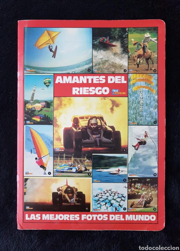 ALBUM CARPETA AMANTES DEL RIESGO. TELEINDISCRETA. COMPLETO. IMPECABLE!! (Coleccionismo Deportivo - Álbumes otros Deportes)
