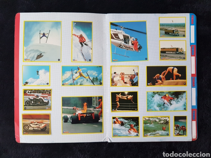 Coleccionismo deportivo: Album carpeta Amantes del riesgo. Teleindiscreta. Completo. Impecable!! - Foto 2 - 113148055