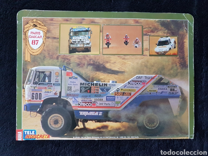 Coleccionismo deportivo: Album carpeta Rallye Paris Dakar 87. A falta solo de 4 cromos - Foto 2 - 113148872