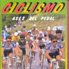 Coleccionismo deportivo: ALBUM CICLISMO ASES DEL PEDAL NUEVO VACIO Y 165 CROMOS COMPLETA LA COLECCION.SIN PEGAR,VER FOTOS. Lote 114274071