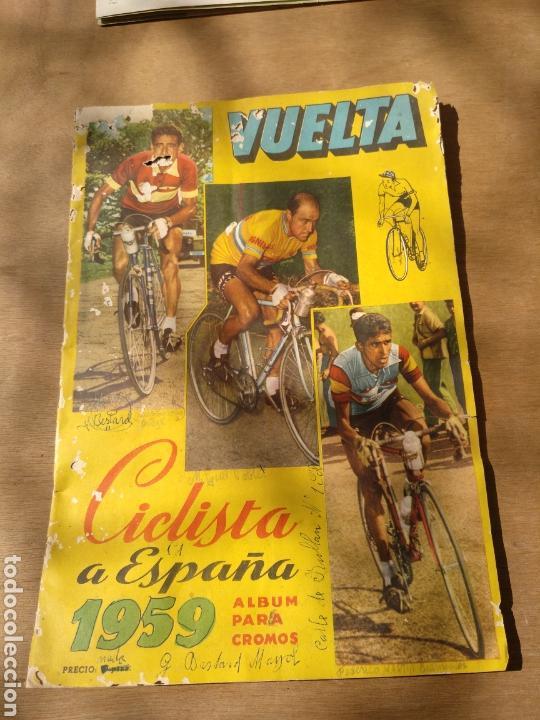 MUY RARO ALBUM VUELTA CICLISTA ESPAÑA CICLISMO 1959 FALTAN 46 CROMOS (Coleccionismo Deportivo - Álbumes otros Deportes)