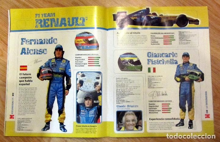 Coleccionismo deportivo: ALBUM COMPLETO GP MARCA FÓRMULA 1 F1 Y MOTO GP A TODO GAS 2005 FERNANDO ALONSO VALENTINO ROSSI - Foto 3 - 114726379