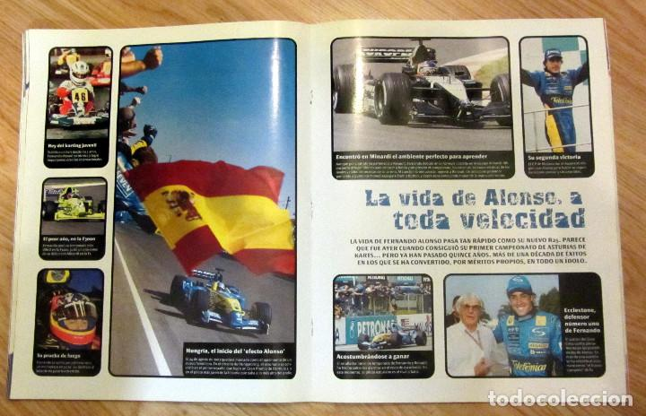 Coleccionismo deportivo: ALBUM COMPLETO GP MARCA FÓRMULA 1 F1 Y MOTO GP A TODO GAS 2005 FERNANDO ALONSO VALENTINO ROSSI - Foto 4 - 114726379