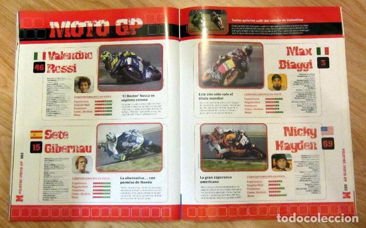 Coleccionismo deportivo: ALBUM COMPLETO GP MARCA FÓRMULA 1 F1 Y MOTO GP A TODO GAS 2005 FERNANDO ALONSO VALENTINO ROSSI - Foto 5 - 114726379
