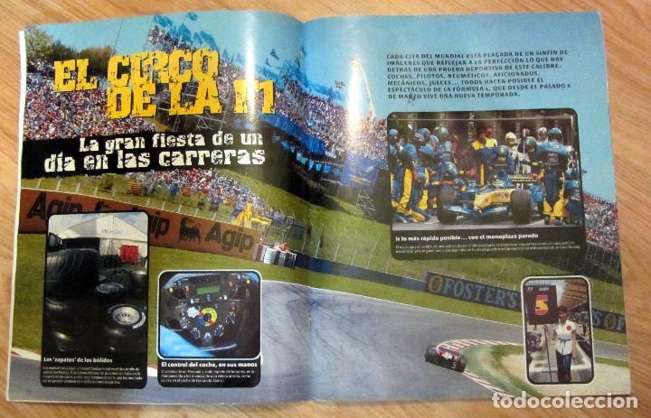 Coleccionismo deportivo: ALBUM COMPLETO GP MARCA FÓRMULA 1 F1 Y MOTO GP A TODO GAS 2005 FERNANDO ALONSO VALENTINO ROSSI - Foto 6 - 114726379