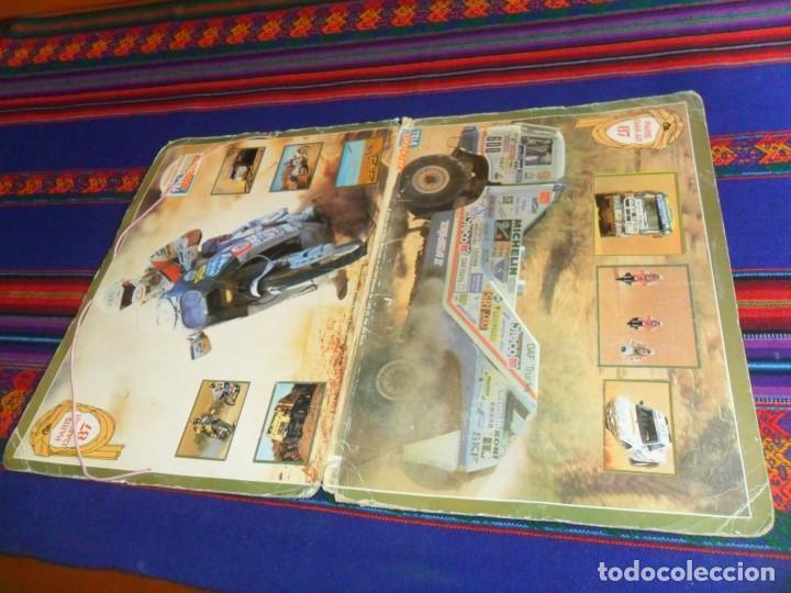 CARPETA ÁLBUM PARÍS DAKAR 87 COMPLETO 39 CROMOS. TELE INDISCRETA. RARO. (Coleccionismo Deportivo - Álbumes otros Deportes)