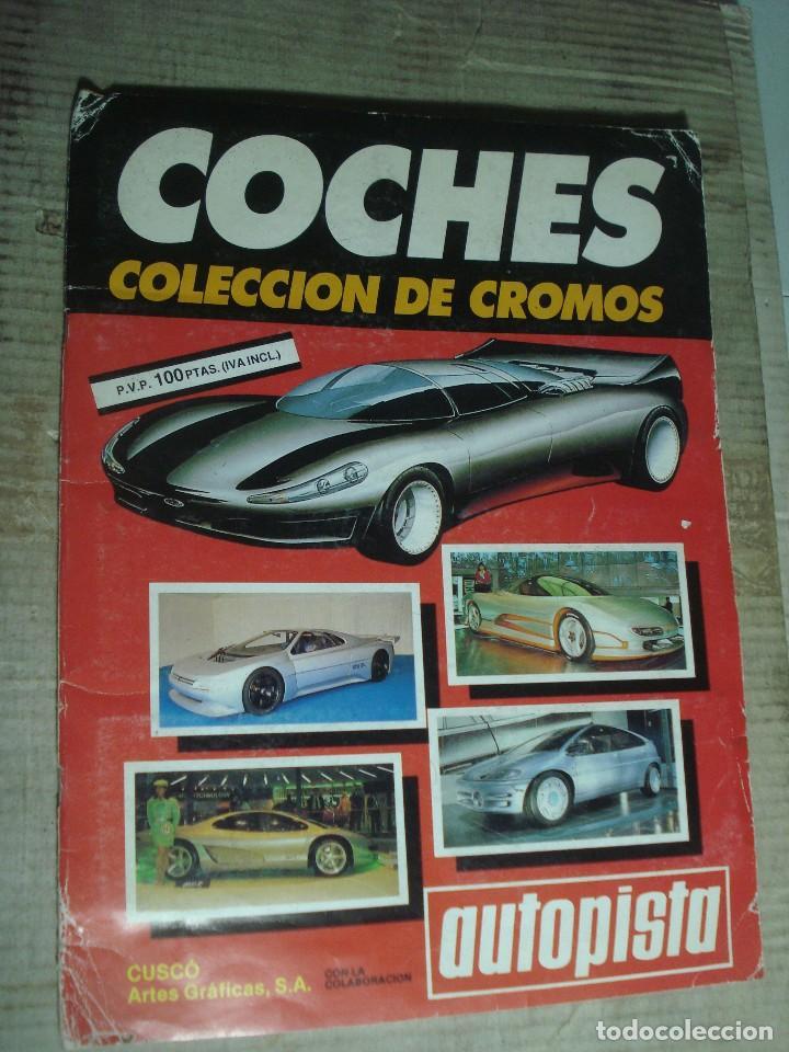 ALBUM COCHES CUSCO ARTES GRAFICAS. AUTOPISTA COMPLETO Y EN BUEN ESTADO. VER FOTOS (Coleccionismo Deportivo - Álbumes otros Deportes)