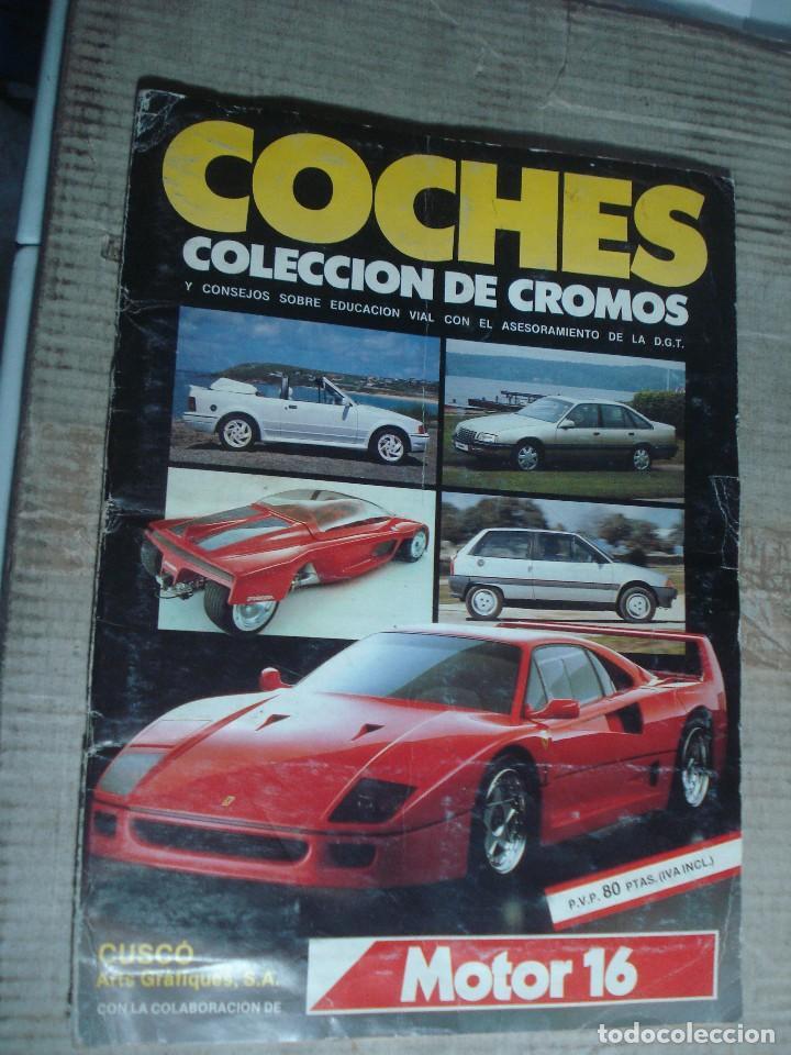 ALBUM COCHES CUSCO ARTES GRAFICAS. MOTOR 16 COMPLETO Y EN BUEN ESTADO. VER FOTOS (Coleccionismo Deportivo - Álbumes otros Deportes)