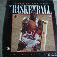 Coleccionismo deportivo: PREMIER NBA EURO EDITION BASKETBALL COLLECTOR'S ALBUM 177 FICHAS + 3 HOLOGRAMAS. Lote 116215543