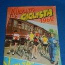 Coleccionismo deportivo: ALBUM CICLISTA 1962 VUELTA GIRO Y TOUR , CROMOS EVA, COMPLETO , IMPECABLE ESTADO DE CONSERVACION. Lote 116551635