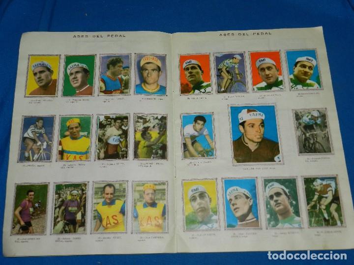 Coleccionismo deportivo: ALBUM CICLISTA 1962 VUELTA GIRO Y TOUR , CROMOS EVA, COMPLETO , IMPECABLE ESTADO DE CONSERVACION - Foto 3 - 116551635