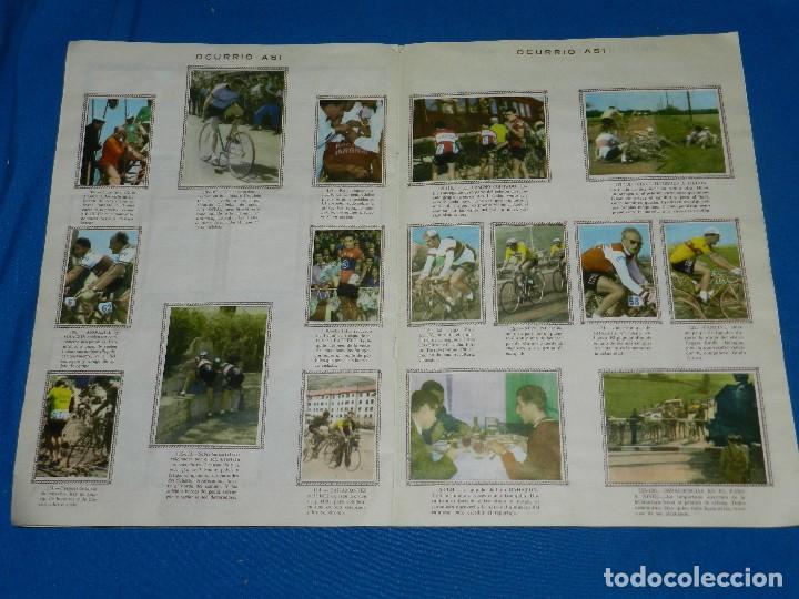 Coleccionismo deportivo: ALBUM CICLISTA 1962 VUELTA GIRO Y TOUR , CROMOS EVA, COMPLETO , IMPECABLE ESTADO DE CONSERVACION - Foto 5 - 116551635