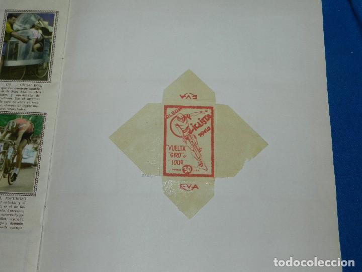 Coleccionismo deportivo: ALBUM CICLISTA 1962 VUELTA GIRO Y TOUR , CROMOS EVA, COMPLETO , IMPECABLE ESTADO DE CONSERVACION - Foto 7 - 116551635