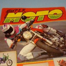 Coleccionismo deportivo: ÁLBUM DE CROMOS DE MOTOS SUPERMOTO COMPLETO. Lote 118422666