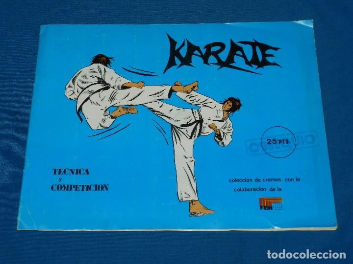 ALBUM COMPLETO - KARATE TECNICA Y COMPETICION , FCR EDC ARA 1980 , BUEN ESTADO (Coleccionismo Deportivo - Álbumes otros Deportes)