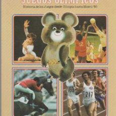 Coleccionismo deportivo: COLA CAO -- JUEGOS OLÍMPICOS -- HISTORIA DE LOS JUEGOS DESDE OLIMPIA HASTA MOSCÚ 80. COMPLETO. Lote 121457891