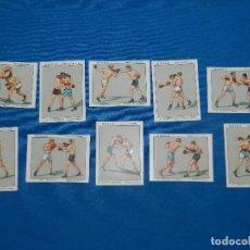 Coleccionismo deportivo: CROMOS BOXEO ( COMPLETO ) 10 CROMOS , UZCUDUN , SPALLA , GIRONES , ALIS , HEENEY. Lote 121744651