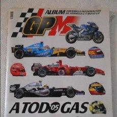 Coleccionismo deportivo: ALBUM GP MARCA. CON TODA LA INFORMACION DE FORMULA 1 Y MOTO GP. CASI COMPLETO. SOLO FALTAN 9 CROMO-P. Lote 122069035
