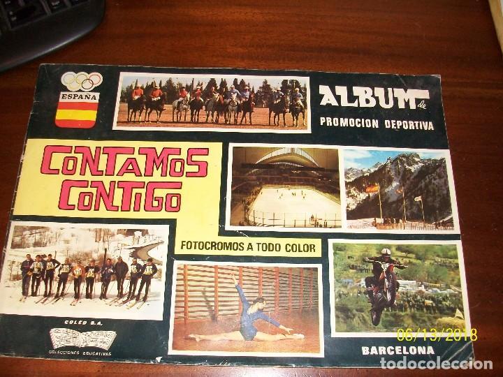 ALBUM CONTAMOS CONTIGO-INCOMPLETO (Coleccionismo Deportivo - Álbumes otros Deportes)