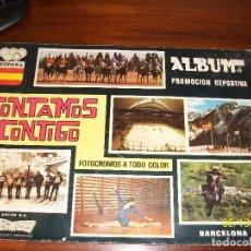 Coleccionismo deportivo: ALBUM CONTAMOS CONTIGO-INCOMPLETO. Lote 124649523