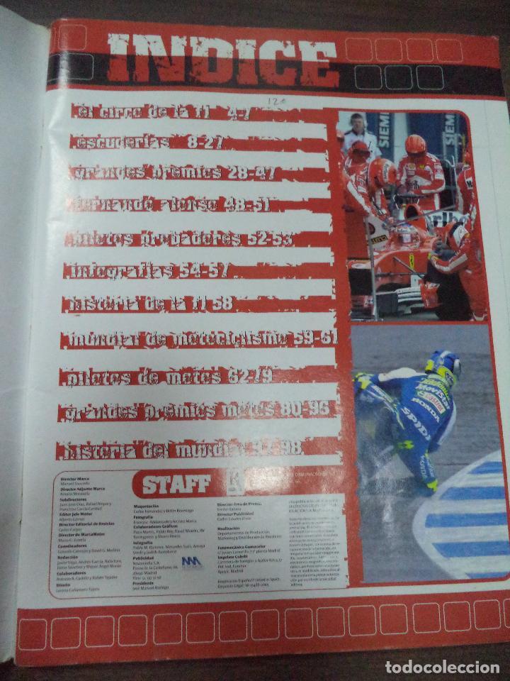 Coleccionismo deportivo: ALBUM INCOMPLETO. ALBUM CON TODA LA INFORMACION DE FORMULA 1 Y MOTO GP. GP MARCA. FALTAN 6. - Foto 2 - 125284859