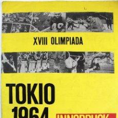 Coleccionismo deportivo: TOKIO 1964. XVIII OLIMPIADA. INNSBRUCK. ALBUM DE 193 CROMOS. COMPLETO. EDITORIAL CROSAL. BARCELONA.. Lote 126689543