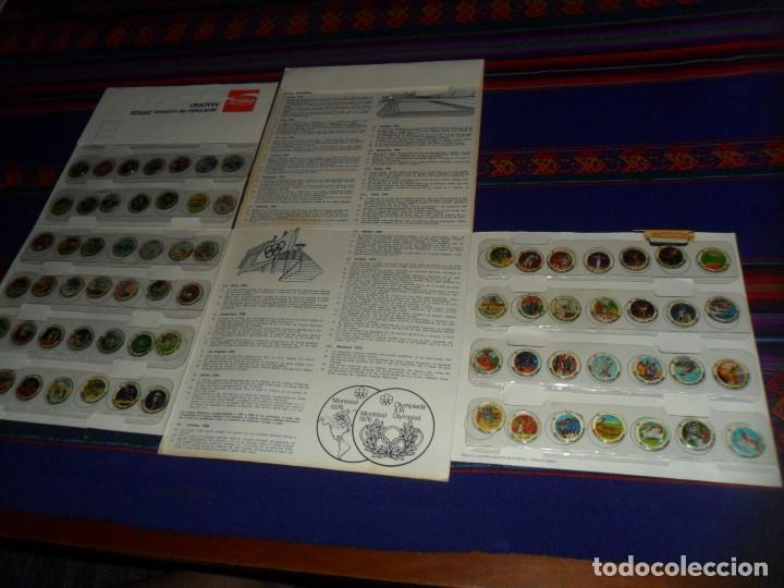 Coleccionismo deportivo: MONTREAL 1976 HISTORIA DE LOS JUEGOS OLÍMPICOS COMPLETO 84 CROMOS. COCA COLA. - Foto 2 - 126883987