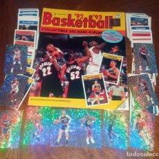 Coleccionismo deportivo: COLECCION COMPLETA ÁLBUM + SET 192 CROMOS NBA BASKETBALL 1992 1993 PANINI. Lote 128387275