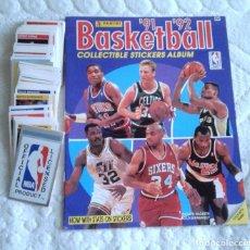 Coleccionismo deportivo: COLECCION COMPLETA ÁLBUM + SET 192 CROMOS NBA BASKETBALL 1991 1992 PANINI. Lote 128387383