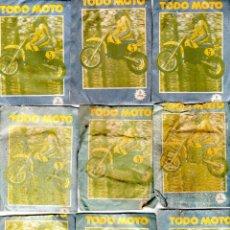 Coleccionismo deportivo: TODO MOTO. CROMOS CANO. 9 SOBRES SIN ABRIR. CON CROMOS. NUEVOS.. Lote 129227879