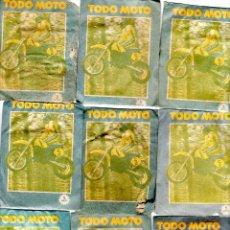 Coleccionismo deportivo: TODO MOTO. CROMOS CANO. 9 SOBRES SIN ABRIR. CON CROMOS. NUEVOS.. Lote 129227947