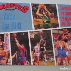 Coleccionismo deportivo: ÁLBUM CON 32 FICHAS DE BALONCESTO. GIGANTES DEL BASKET. LIGA 89 90. 1989 1990. 200 GR. Lote 133498854