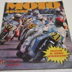Coleccionismo deportivo: ÁLBUM DE CROMOS MOTO SPORT DE PANINI / CROMO CROM 1980, CON 101 CROMOS DE 324. Lote 134066338