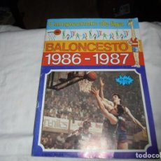 Coleccionismo deportivo: ALBUM CAMPEONATO DE LIGA BALONCESTO 1986-1987 INCOMPLETO FALTAN 112 DE 206. Lote 136745494