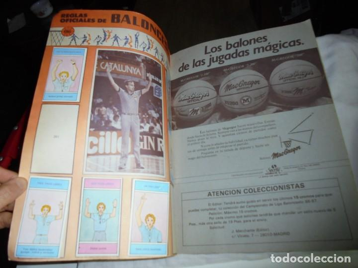 Coleccionismo deportivo: ALBUM CAMPEONATO DE LIGA BALONCESTO 1986-1987 INCOMPLETO FALTAN 112 DE 206 - Foto 8 - 136745494