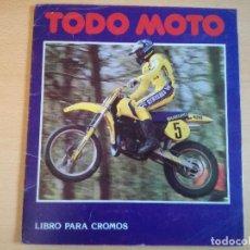 Coleccionismo deportivo: ALBUM TODO MOTO, CROMOS CANO, AÑO 1983 CON 115 CROMOS.. Lote 138592746