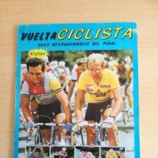 Coleccionismo deportivo: VUELTA CICLISTA ASES INTERNACIONALES DEL PEDAL, EDI. MERCHANTE 1985. 142 CROMOS DE 190. Lote 140153014