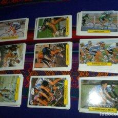 Coleccionismo deportivo: COLECCIÓN DE CICLISMO CICLISTAS COMPLETA AÑOS 90 NUEVO SUPER SKATE BALL 165 CROMOS SUELTOS MUY RARA.. Lote 140668022